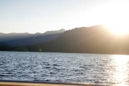 Sun setting on Lake Tahoe