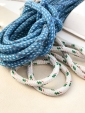 Rope on the boat for the sails